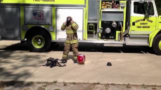 Basic Firefighter Training Don Turnout Gear And SCBA