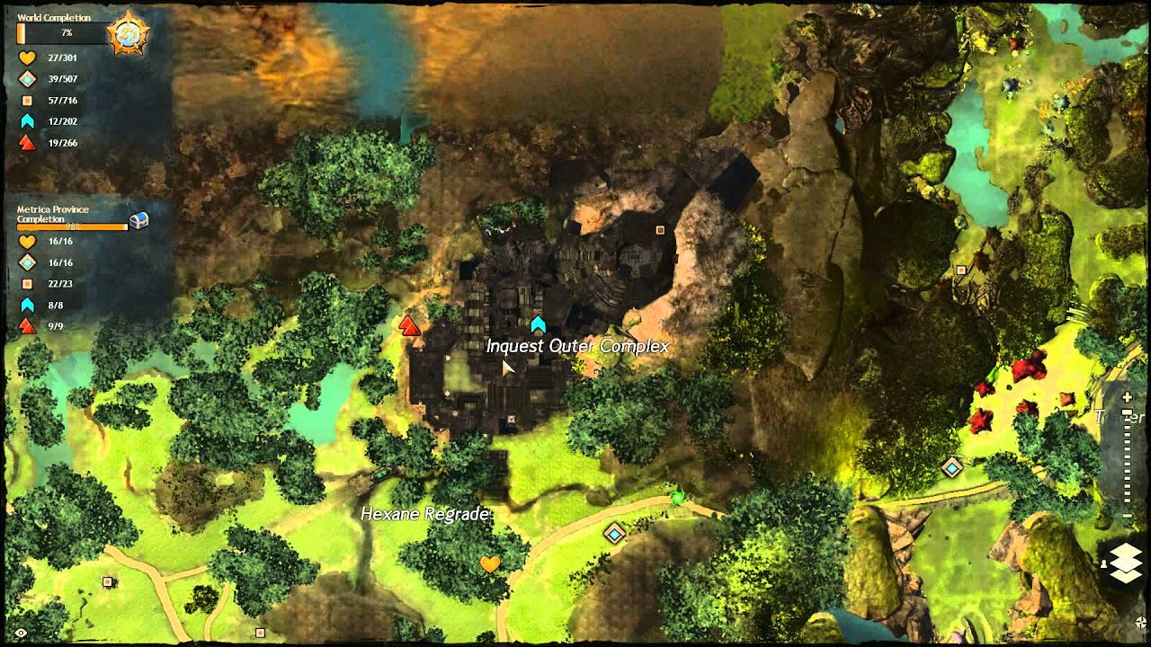 how to get to inner inquest complex gw2