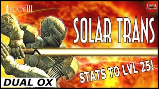 Infinity Blade 3: DUAL SOLAR TRANS OX STATS TO LEVEL 25