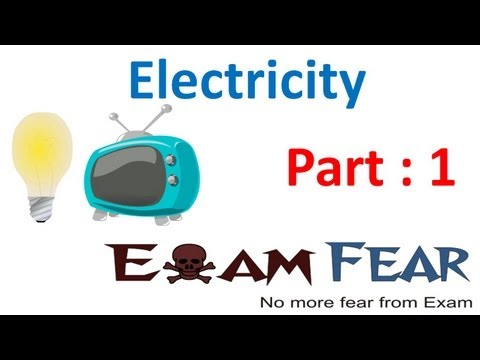 Physics Electricity part 1 (Introduction) CBSE class 10 X