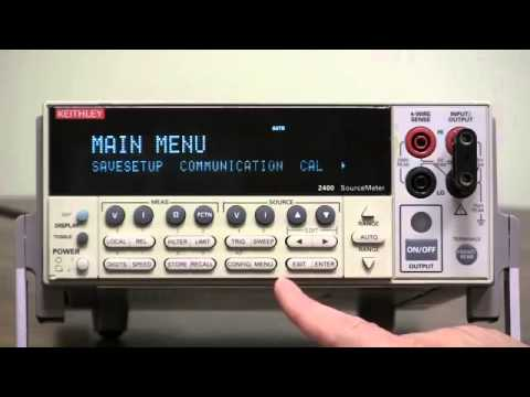 How To Setup GPIB RS 232 Communication   Keithley Instruments Model 2400