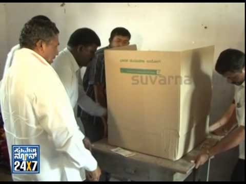 K. H. Muniyappa Changed Vastu of Voting Machine & cast his vote - News bulletin 17 Apr 14
