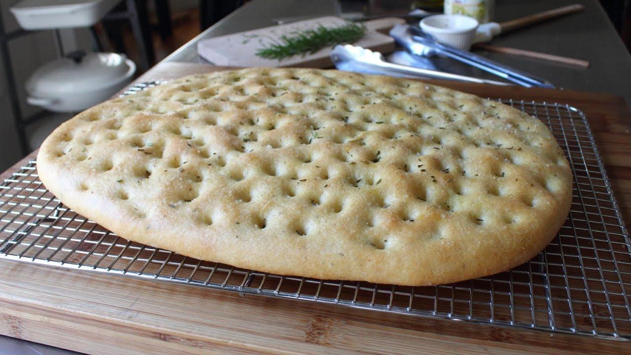 Focaccia Recipe - Italian Flat Bread with Rosemary and Sea Salt ...