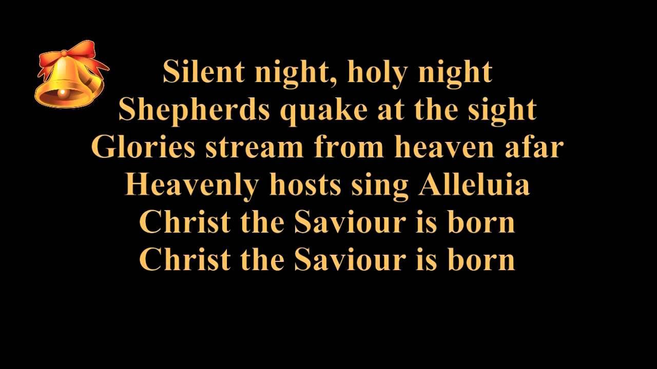 Silent night lyrics karaoke instrumental music piano and strings