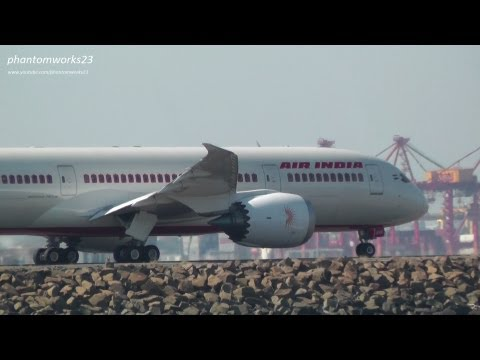 Air India 787-8 Dreamliner Inaugural Take Off at Sydney Airport