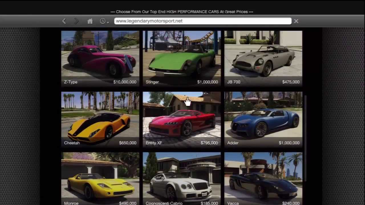Gta V Buying Cars Off The Internet