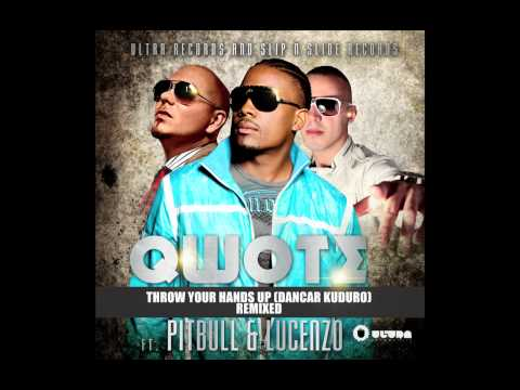 Qwote Ft. Pitbull &amp; Lucenzo - Throw Your Hands Up (R3hab's Dayglow Remix) (Cover Art)