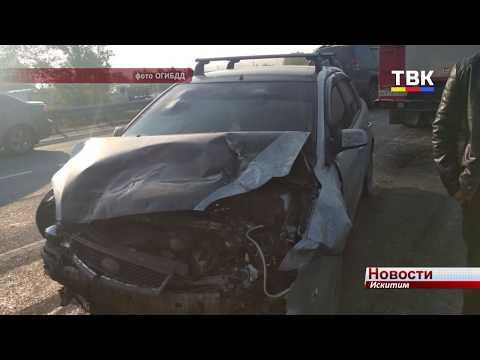 «Ниссан» в Искитиме не пропустил КамАЗы- водитель в больнице