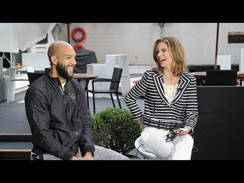 Tim Howard Does Morning Shows in São Paulo