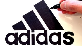 How to draw the Adidas Logo - Best on Youtube