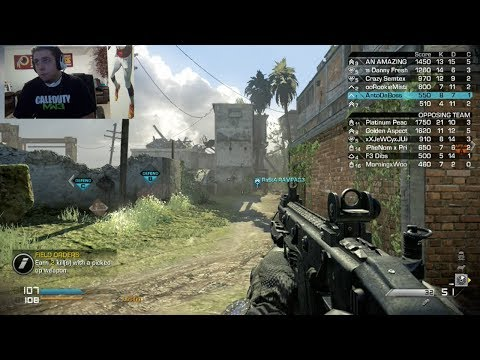 Call of Duty Ghost - My First Match Online With FaceCam!!