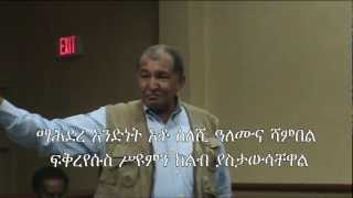Former Ethiopian parliamentarian gives Demeke Mekonnen and other TPLF delegates an earful