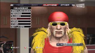 How To Make Hulk Hogan On Smackdown VS Raw 2011 ( Tutorial