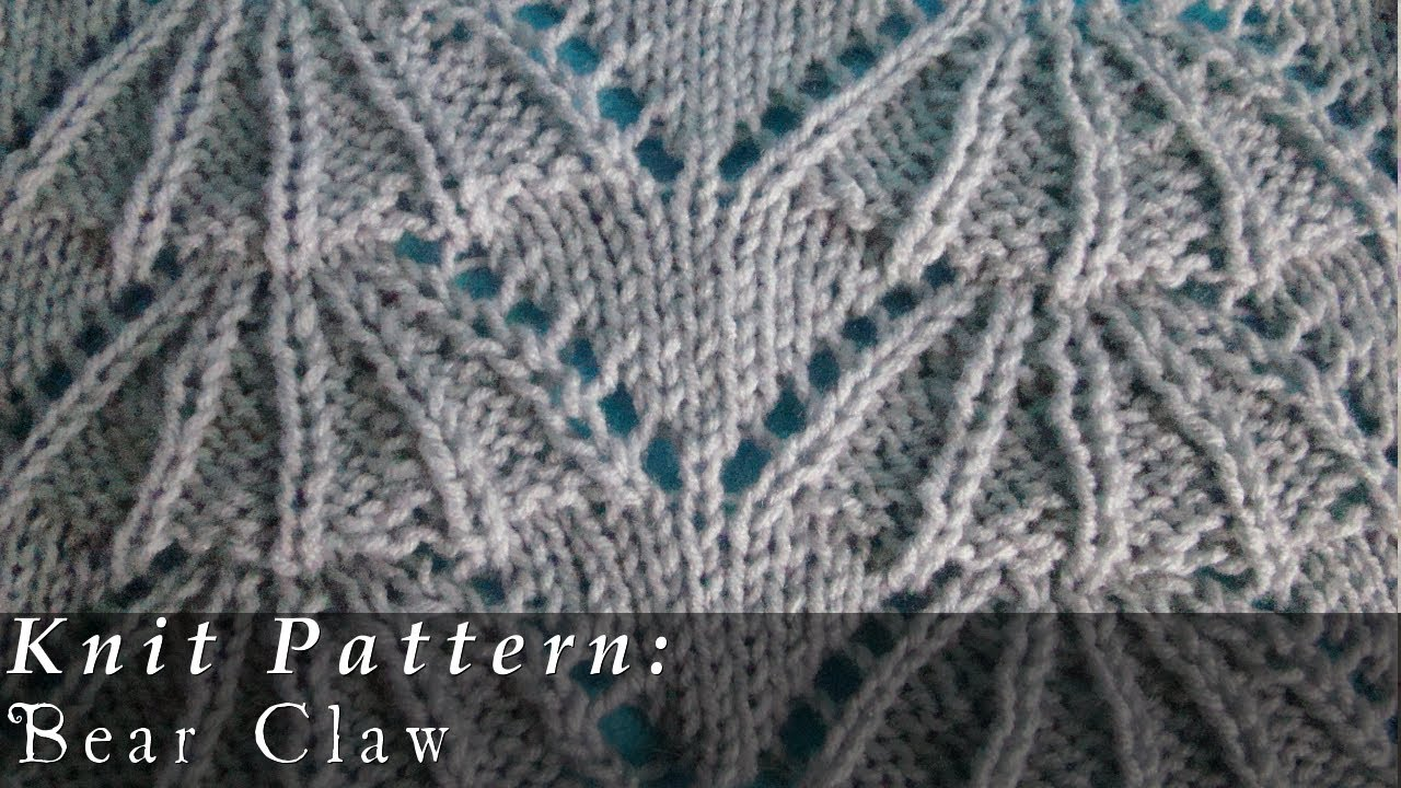 Scallop Knitting Pattern : Bear Claw Knit Pattern Scalloped Edge - YouTube