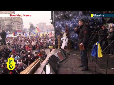 Protestors defy ban: Ukrainians protest in defiance of anti-protest law