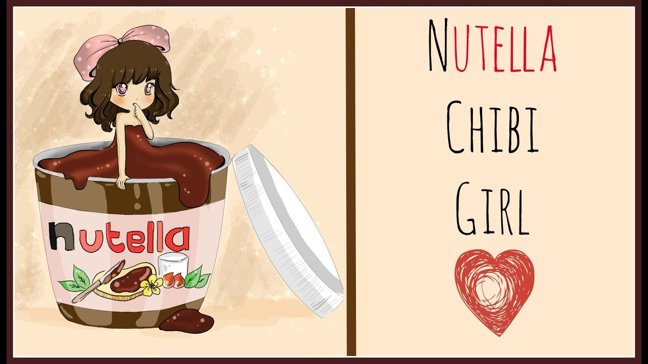 The Food Chibi Series - Nutella Girl (Speed Drawing) - YouTube