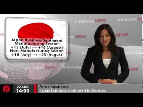 InstaForex News 22 August.Japan business sentiment index rises