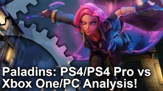 Paladins - PS4/PS4 Pro vs Xbox One vs PC Graphics Comparison