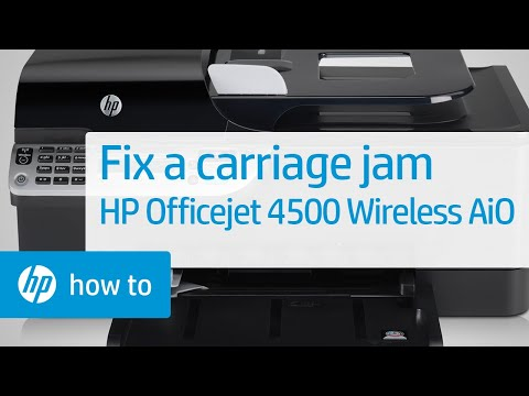 Fixing a Carriage Jam - HP Officejet 4500 Wireless All-in-One (G510n)