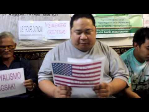 Samakaba-Migrante Riyadh  Obama Visit Indoor Protest