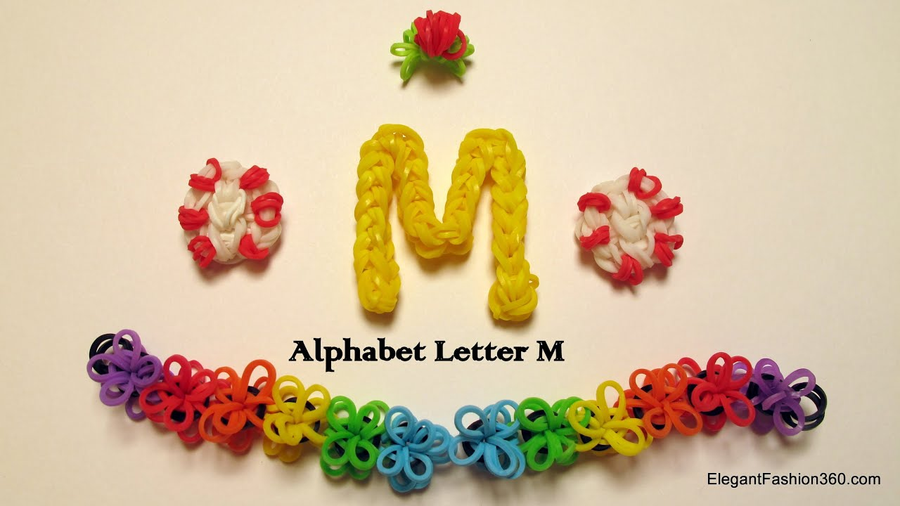 How To Make The Letter M Out Of Rainbow Loom