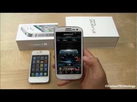 Galaxy S3 vs iPhone 4s - SPEED TEST