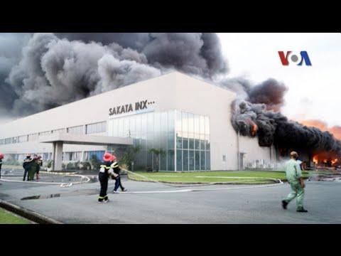 Hỏa hoạn thiêu rụi 1 hãng xưởng của Nhật ở Bình Dương