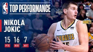 Nikola Jokic ELECTRIC Performance vs The Hornets
