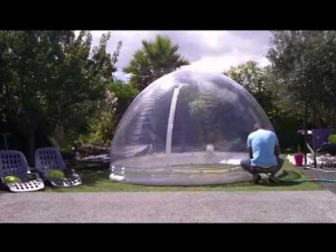 Abri piscine/spa gonflable (démontage) www.domecreation.com