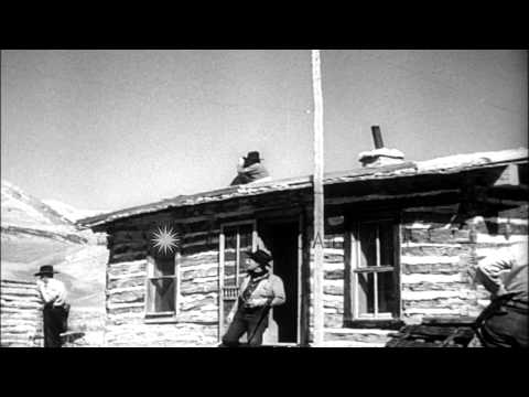 Escapade to hunt Legendary outlaw Earl Durand in Beartooth Mountains. HD Stock Footage