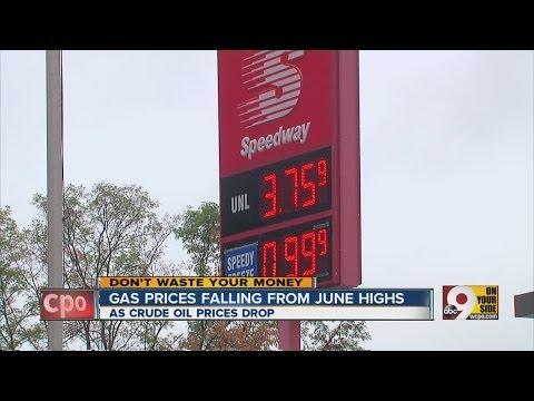 Gas prices falling from June highs