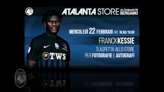 Franck Kessie il 22 febbraio 2017 all'Atalanta Store