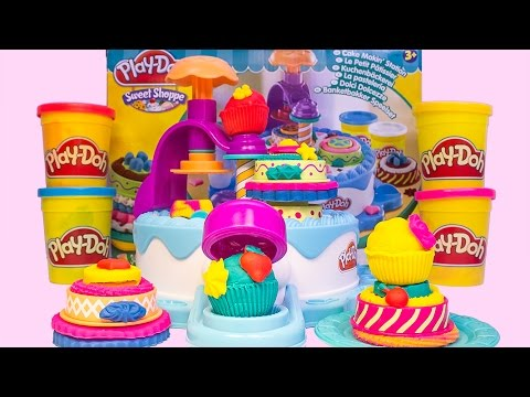 Play Doh Birthday Cake Play-Doh Cake Makin' Station Bakery Playset Cakes Hasbro Toys