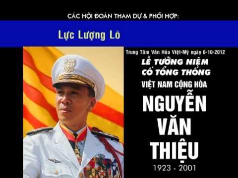 Lễ Tưởng Niệm Cố Tổng Thống Nguyễn Văn Thiệu ngày 6-10-2012 tại San Jose, Cali