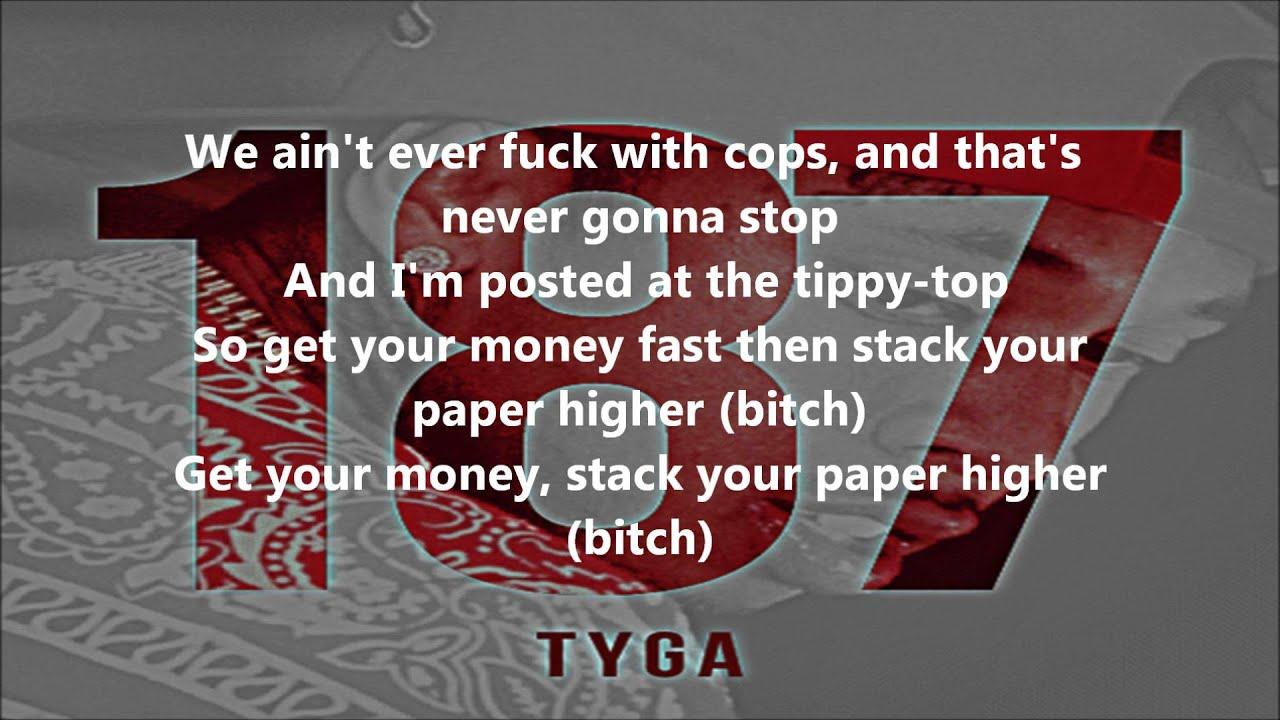 tyga swimming pools lyrics 187 youtube