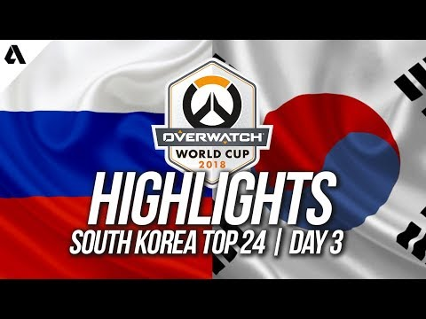 Russia Vs South Korea   Overwatch World Cup 2018 Incheon Qualifier Day 3