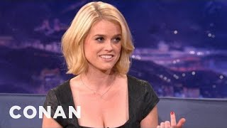 Alice Eve Explains Differences Between American & UK Dating: Conan