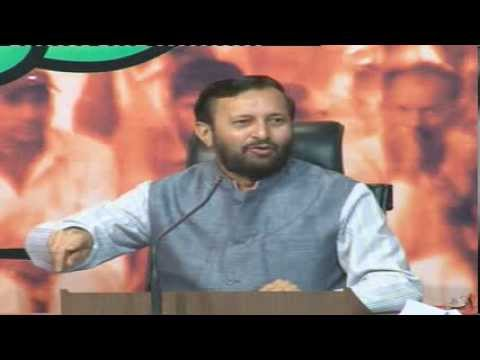 LIVE : BJP Press Conference by Shri Prakash Javadekar