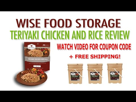 Wise Food Storage Discounts - Teriyaki Chicken Rice Review