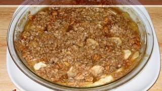 Apple Oats Crumb Pie..