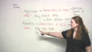 Adjectives and Adverbs for beginners, English Grammar Video Lesson, engvid