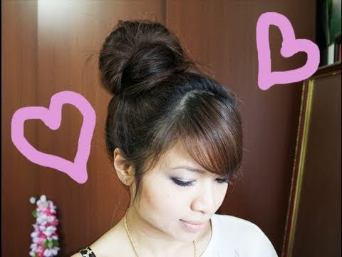 Cutest High Bun Updo Hair Tutorial (no teasing hairstyle)