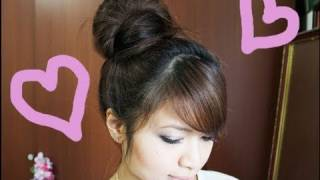 Wrap-Around Hair Bun Updo Hairstyle For Long Medium Hair