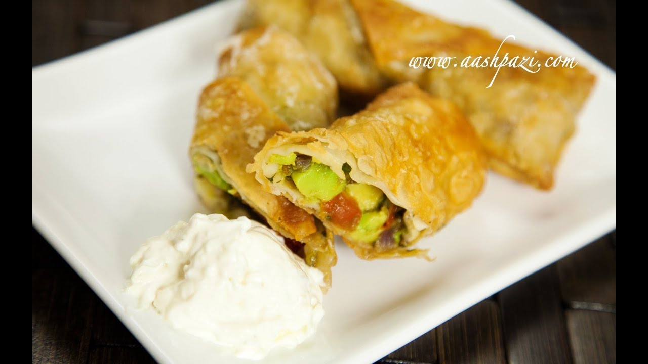 Veggie Egg Roll (Vegetable) Recipe - YouTube