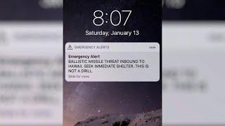 Accidental ballistic missile alert sent out across Hawaii