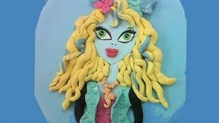 Laguna Blue De Las Monster High. Lagoona Blue Fondant Cake