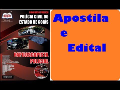 Apostila e Edital Concurso Polícia Civil Goiás Papiloscopista