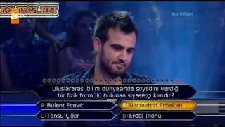 Kim Milyoner Olmak Ister 252. bölüm Yavuz Selim Uyanık 22.07.2013