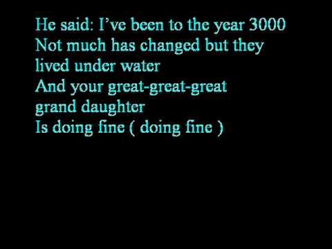 Busted - Year 3000 Lyrics | MetroLyrics