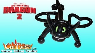 Toothless Night Fury Dragon Balloon Animal How To Train